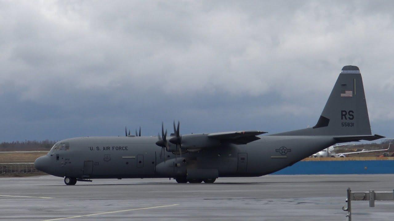 4K | USAF Lockheed C-130J-30 Super Hercules 15-5831 at Tampere-Pirkkala - YouTube