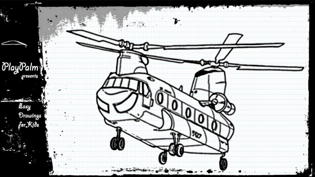 Little Bird Helicopter Drawing