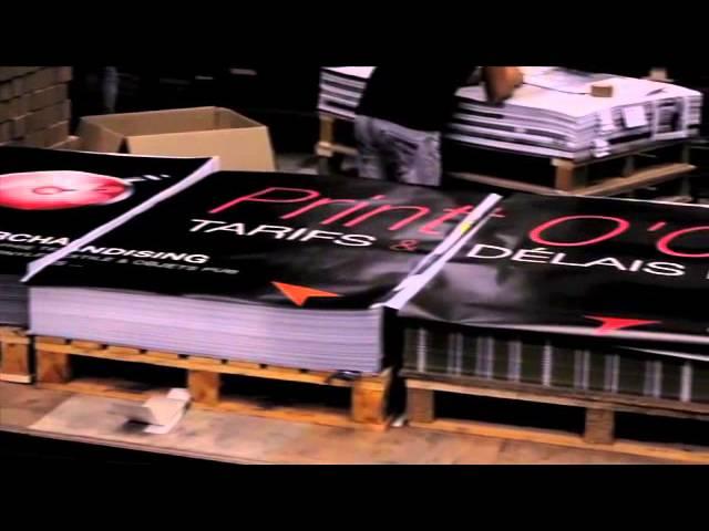 Video impression d'affiches grands formats