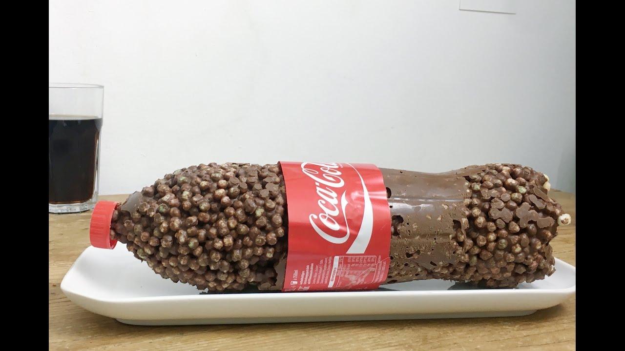 Riesen Cola Flasche Aus Puffreis Coca Cola Kuchen Ohne Backen
