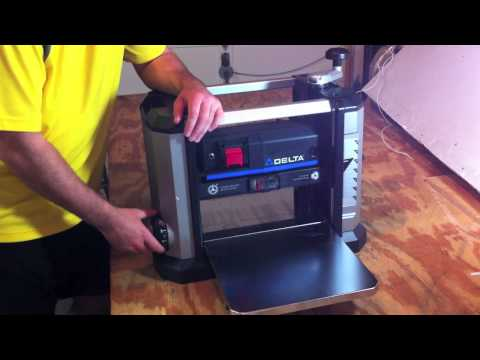 "Delta 13"" PORTABLE THICKNESS PLANER 22-590 - Review"