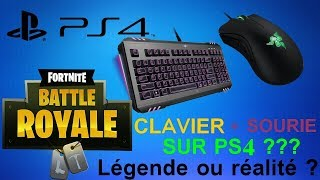 COMMENT JOUER CLAVIER SOURIS SUR PS4 SUR FORTNITE !