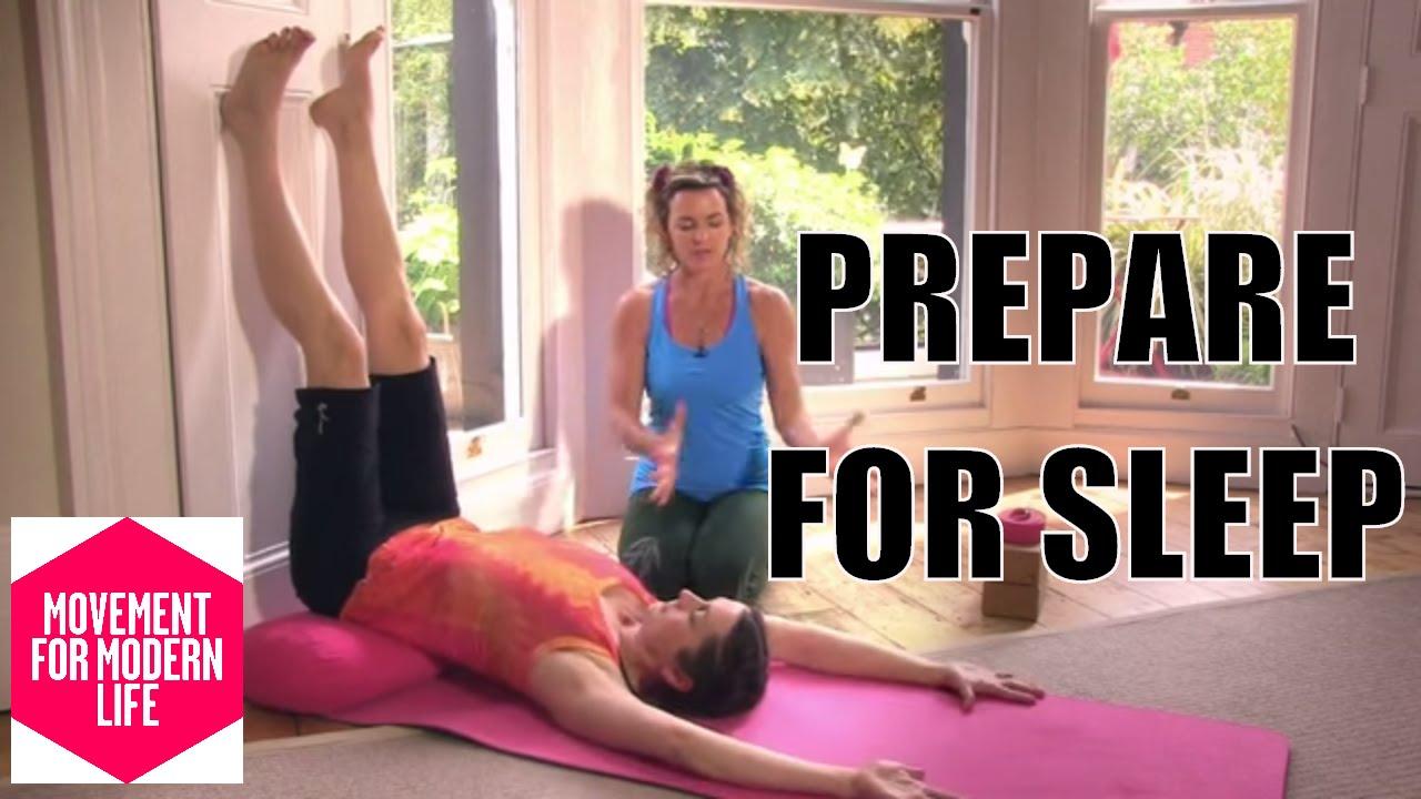 Bedtime Yoga Insomnia Help   Legs Up The Wall   Liz Lark   Online Yoga    Movement for Modern Life
