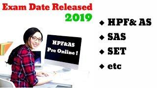 HP SET Exam Date 2019   HPF&AS Exam Date    ! sorry