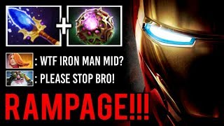 FORGOTTEN IMBA MID IS BACK! RAMPAGE Clock Counter Sniper Crazy OC Scepter by Bulldog 7.22 Fun Dota 2