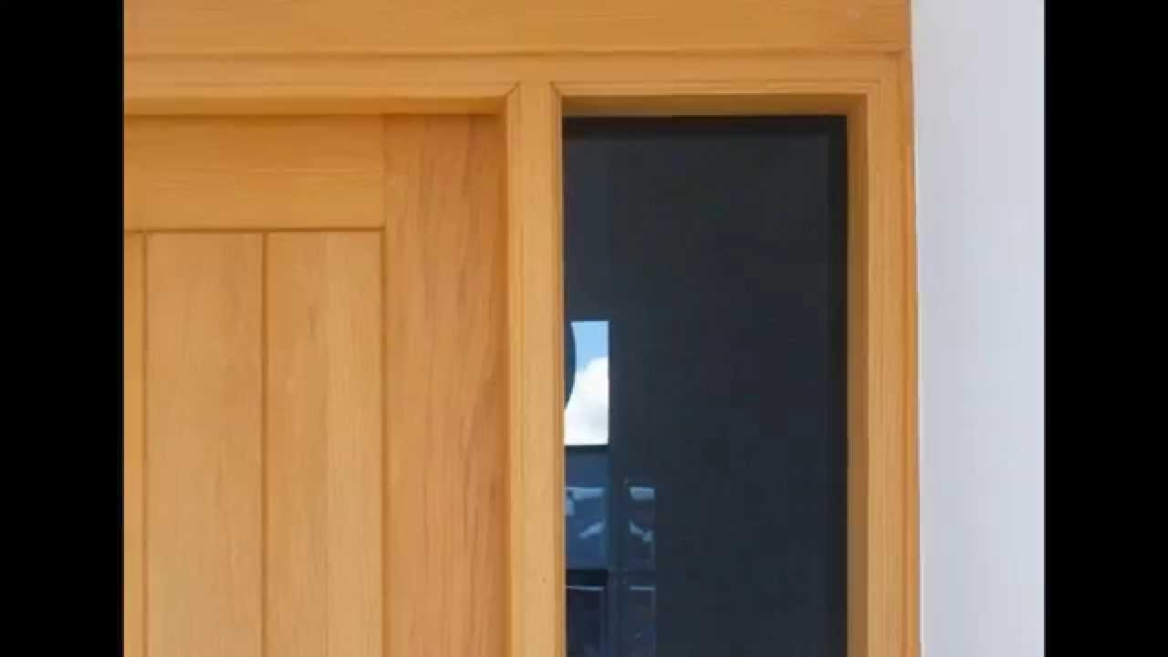 Puertas tenerife de madera carpinter a renux youtube - Como hacer una mampara ...
