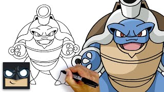 How To Draw Mega Blastoise | Pokemon