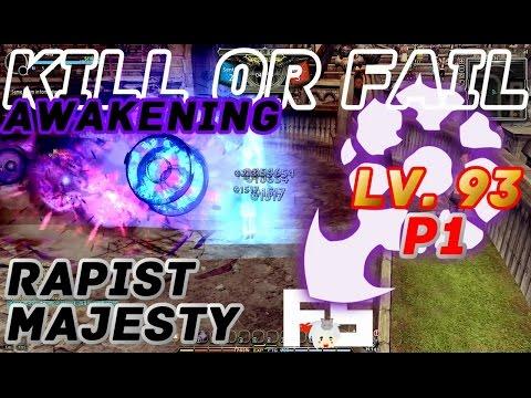 Dragon Nest PvP : Rapist Majesty v Crus Glad Raven Adept Awakening KOF Lv. 93 KDN Spec Mode.