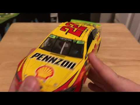 Ironic DIN #! Joey Logano's 2018 Shell/PENNZOIL Ford Fusion Martinsville Win 1/24 Diecast Review