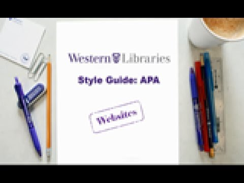 APA Style Guide: Websites