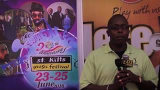 St  Kitts Music Festival- Caribbean Lottery Cheque Handing Over