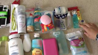 I'm going to camp!|toiletries