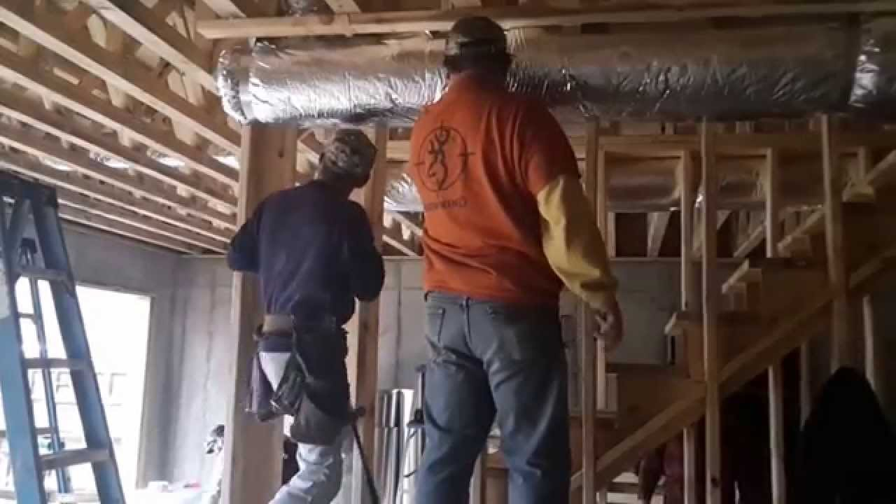 Build A Frame Around Duct Work Youtube