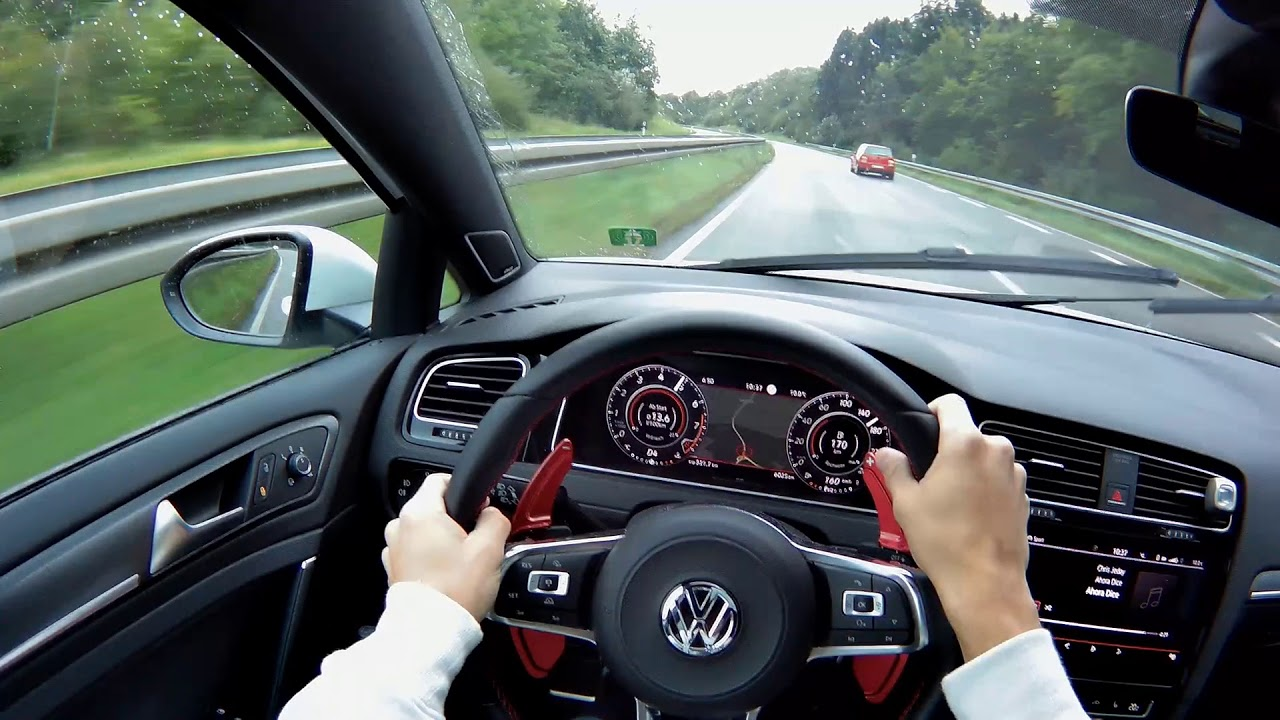 2019 new vw golf 7 gti facelift pov driving with gopro. Black Bedroom Furniture Sets. Home Design Ideas