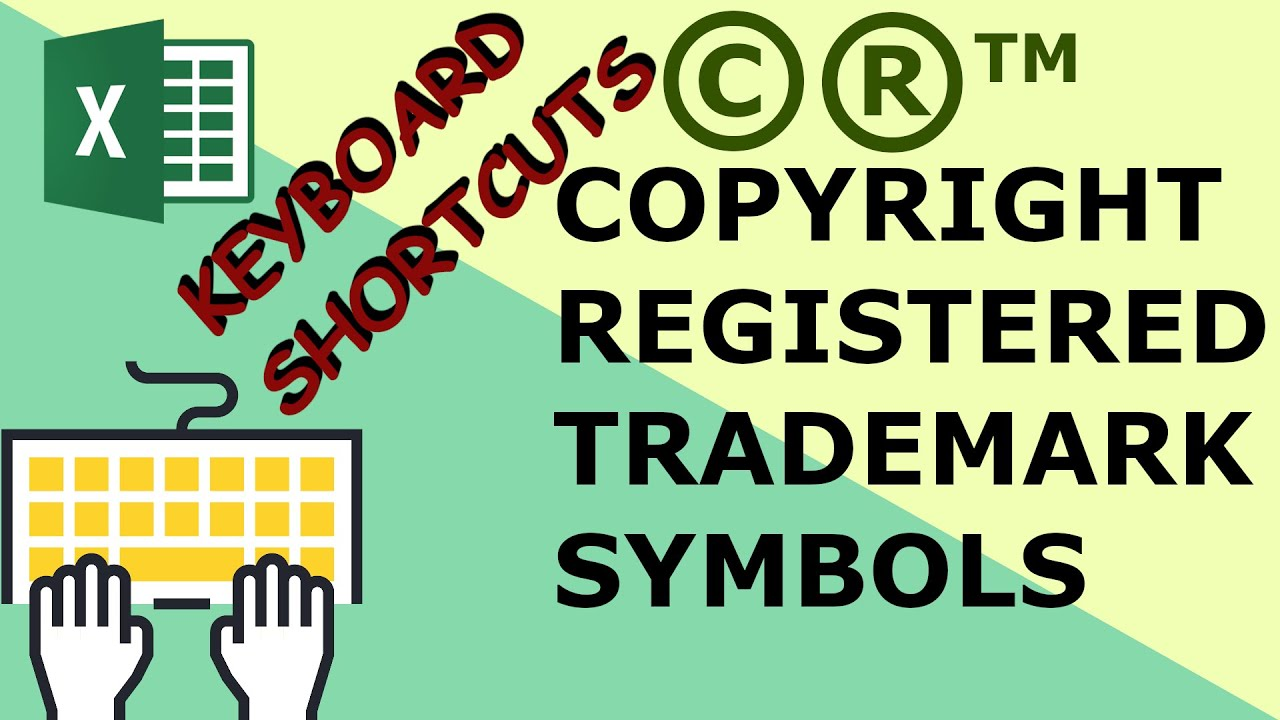 Insert Copyright Trademark And Registered Symbols In Excel Excel