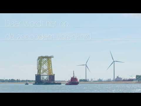Eerste onderstel windmolengebied Borssele met succes geplaatst