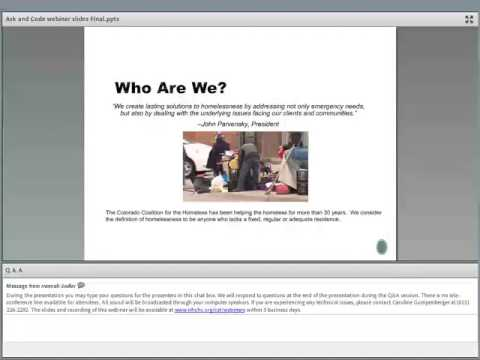 Webinar: Ask & Code: Documenting Homelessness Throughout the Health Care System