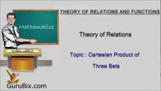 Cartesian Product of Three Sets | Theory of Relations | Math Lessons