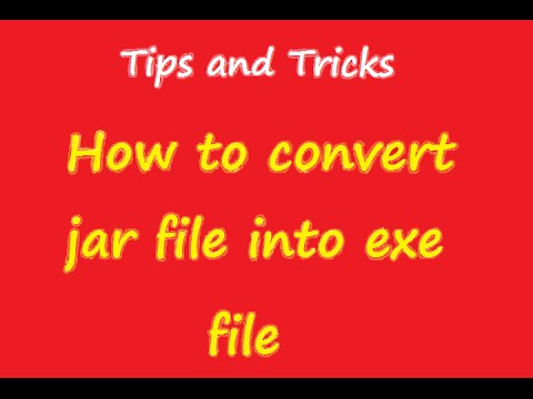 how to change a jar file to exe