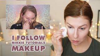 I tried following Nikkietutorials makeup | Lenka