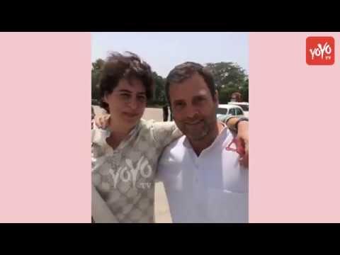 Rahul Gandhi Priyanka Gandhi Funny Video at Kanpur Airport | Brother & Sister Relationship | YOYO TV