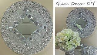 DIY Dollar Tree Easy Glam Wall Mirror