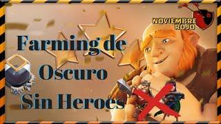 Farming de Oscuro sin Héroes , th9 ,th8 , th7 /ejércitos Clash of Clans