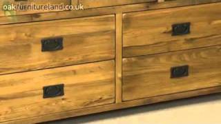 Rustic Oak 3+4 Drawer Chest From Oak Furniture Land
