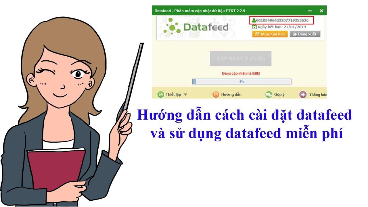 Hướng dẫn cách cài đặt datafeed cho Amibroker và sử dụng datafeed miễn phí