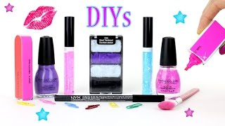 10 DIY School Supplies! Easy - Weird DIY Crafts - Hacks w/ Makeup! Lip Balm-Nail   Polish-Mini DIYs