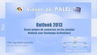Outlook 2013: Crear grupos de contactos en cuentas Outlook.com (Hotmail)
