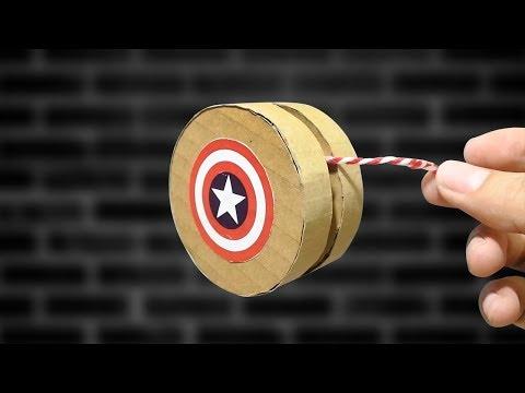 DIY ทำโยโย่ จากลังกระดาษ | How To Make YoYo From Cardboard