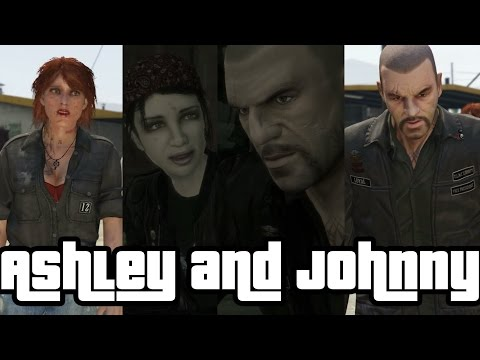 Ashley Butler and Johnny Klebitz (GTA IV and GTA V)