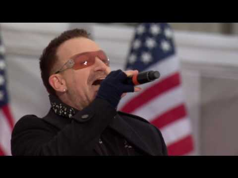 U2 - Pride + City Of Blinding Lights Live Obama Concert Wash
