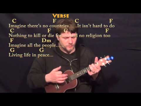Imagine (John Lennon) Ukulele Cover Lesson in C with Chords/Lyrics