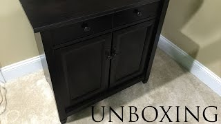 Sauder Edge Water Cabinet Unboxing in 4K