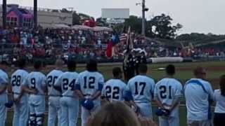 20140704 - Worth Commandery #19/Southside Commandery #83 - Ft.Worth Cats Game Flag Ceremony