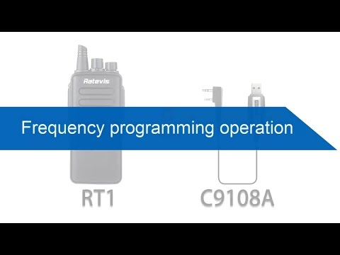 Retevis walkie talkie Frequency programming operation  - YouTube