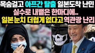일본반응일본도착난민!제대로!역관광당한상황눈치없다고 조롱…