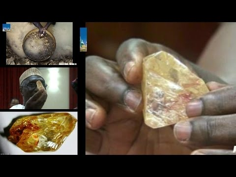 Discovers a 706 Carat 10th Largest Diamond : Worth more than £50 MILLION : Sierra Leone mine : Kono