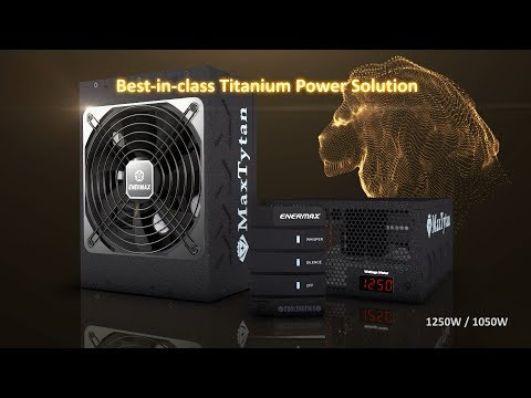 ENERMAX MaxTytan, 80 PLUS Titanium PSU (1250W/1050W)