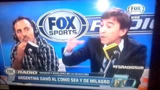Este equipo me da verguenza! Fox sport radio Argentina vs. Chile