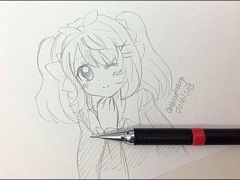 Draw A Manga Girl Real Time Youtube