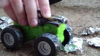 Aluminum Foil Cars For Monster Truck Toys
