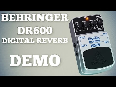 Behringer DR600 Digital Reverb Demo