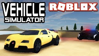 POLICE PURSUIT dans Vehicle Simulator! Roblox
