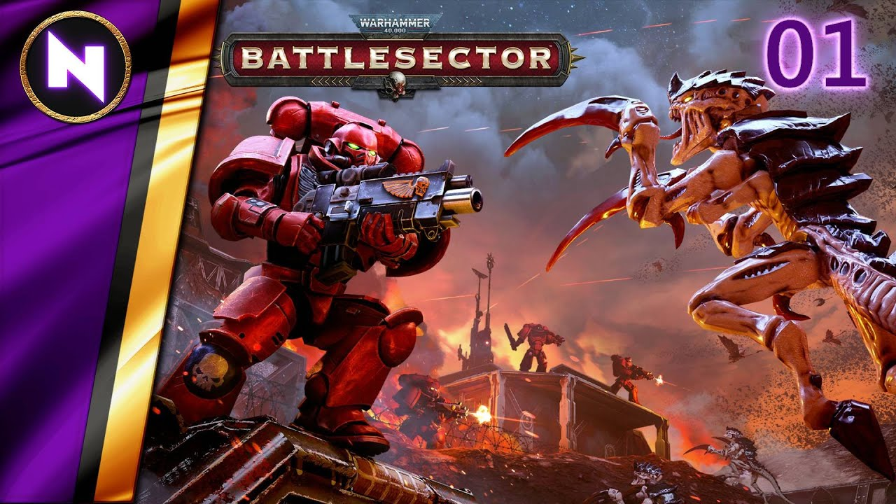 XCOM WITH SPACE MARINES; TURN-BASED TACTICAL BATTLE | Warhammer 40k Battlesector | 01 | Lets Play