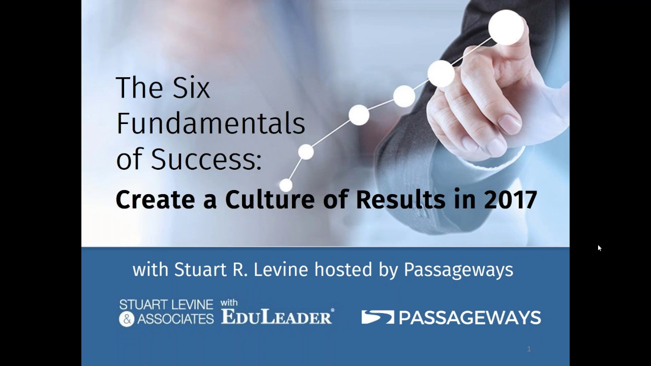 Six Fundamentals for Success: Create a Culture of Results in 2017
