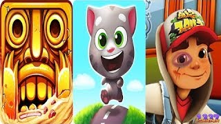 Games for Kids Learn Colors with Tom Vs Subway Surfers Vs Temple Run 2 Video iGame Kids Cartoons