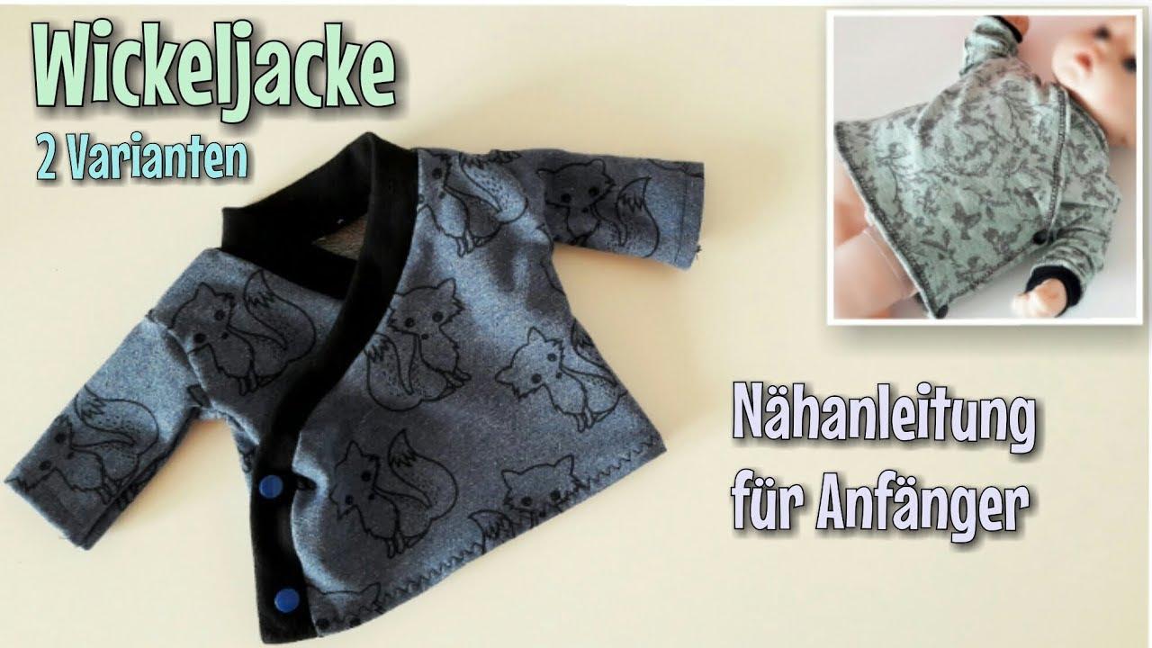 Wickeljacke - Nähanleitung - OHNE Schnittmuster - Anfänger ...